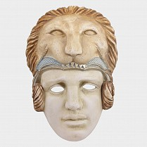 Ceramic Greek mask of Alexander the Great 20x29