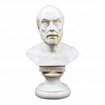Aristotle alabaster Greek bust statue patina finish 9x15cm